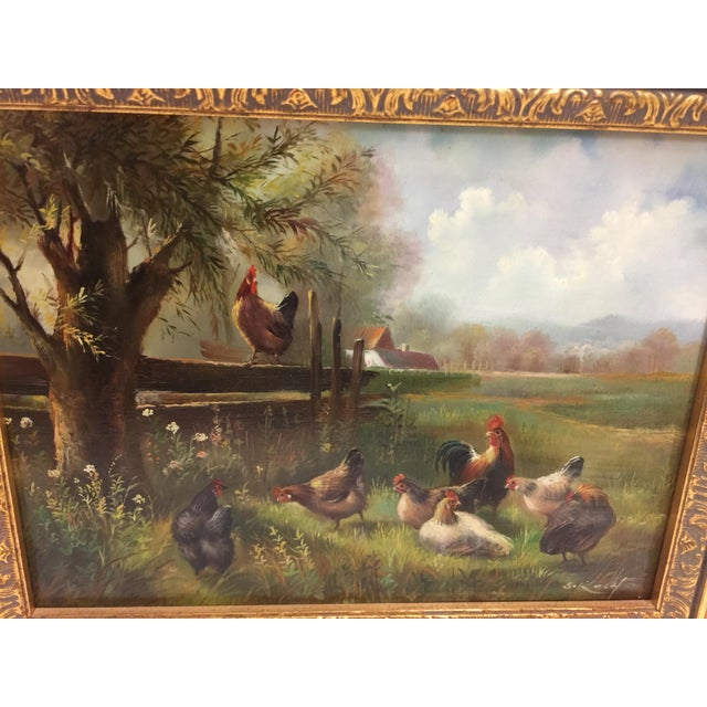"Painting and frame are in excellent condition, the painting measures 15""w x 13"" tall, image size is 9"" wide x 6.5"" tall...."
