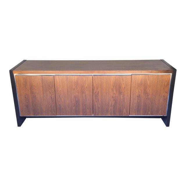 Milo Baughman for Dillingham Walnut Credenza - Image 1 of 6