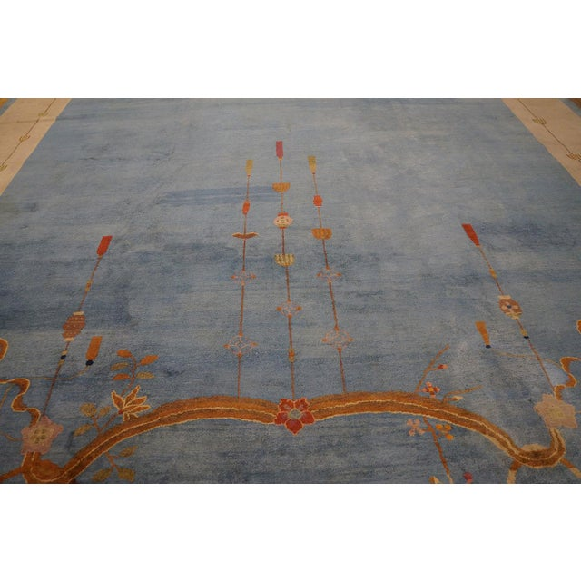 """Textile Antique Chinese Art Deco Rug 12'0"""" X17'6"""" For Sale - Image 7 of 9"""