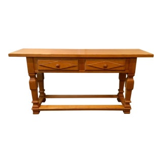 Drexel Traditional Maple Console For Sale