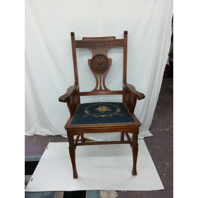 Victorian Irish Green Man Face Throne Chair - Image 2 of 9
