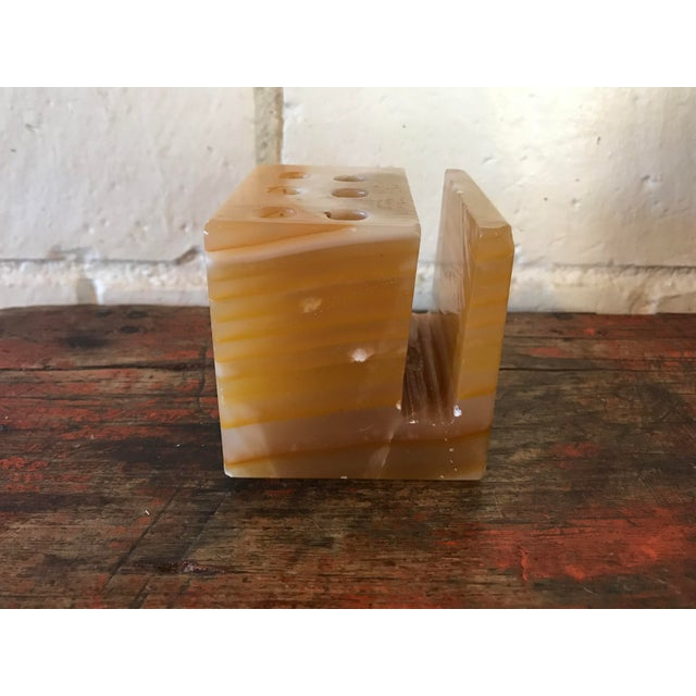 Mid-Century Modern Mid-Century Onyx Desk Accessory For Sale - Image 3 of 9