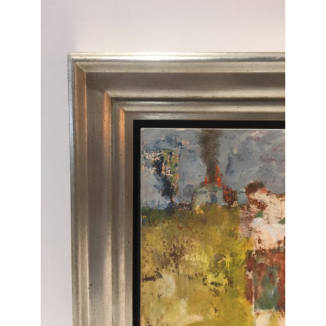 """Aida Fry Fry Fresco """"Burning House"""", Contemporary Colorful Figurative Painting For Sale - Image 4 of 7"""