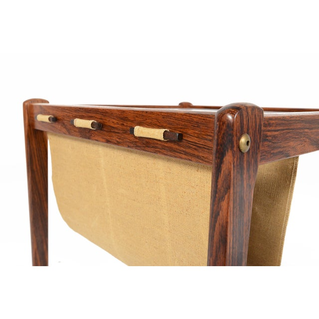 Bent Silberg Danish Modern Rosewood Side Table - Image 5 of 7