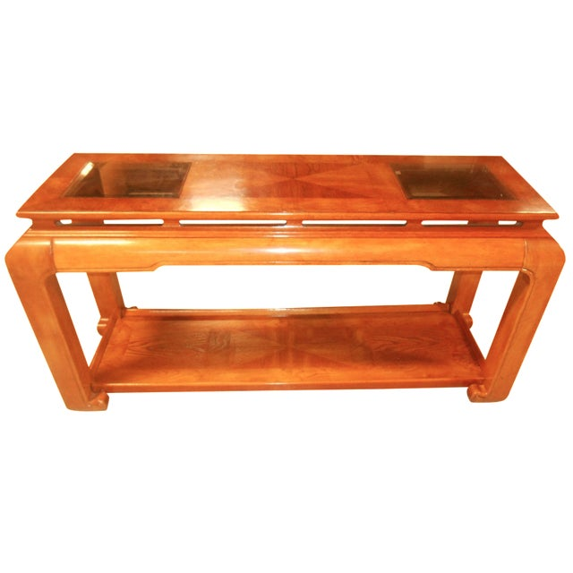 Mid-Century Mod Floating-Top Console For Sale