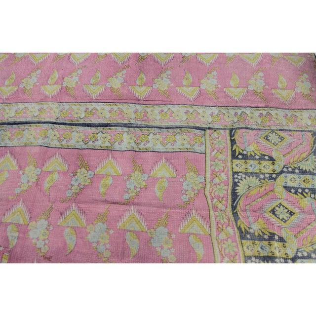 Vintage Pastel Kantha Throw - Image 4 of 4