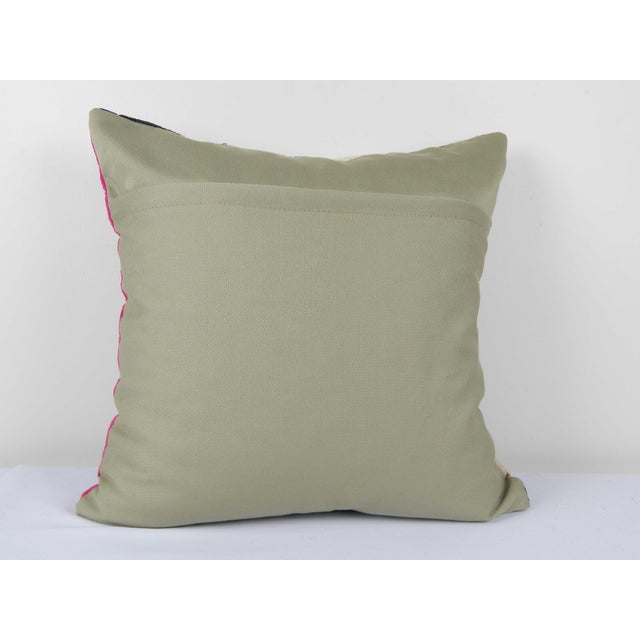 """1960s Vintage Suzani Cushion Cover 20"""" X 20"""" For Sale - Image 5 of 6"""