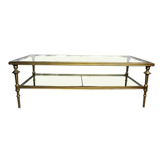 Neoclassical Glass Top Coffee Table