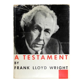 Frank Lloyd Wright: A Testament, First Edition For Sale