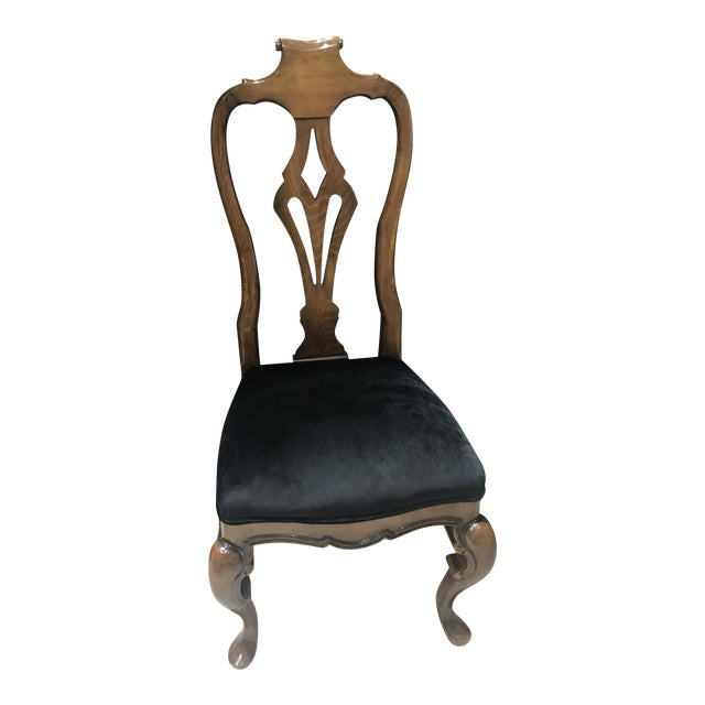 Guy Chaddock Desk Chair With Velvet Seat For Sale