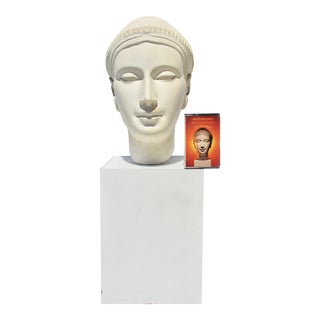 1980s Ageho Album Cover & Head Sculpture - 2 Pieces For Sale