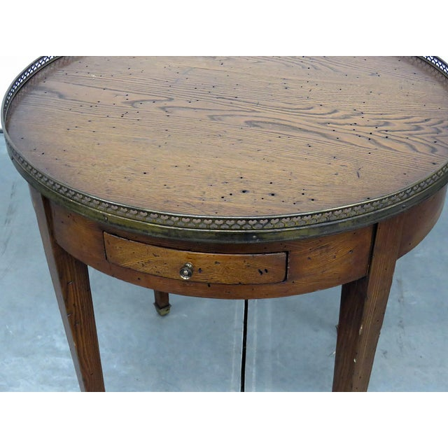 French Antique Louis XIV Style Bouillotte Table For Sale - Image 3 of 10