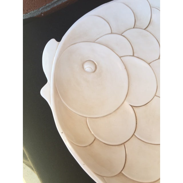 This wonderful Italian ceramic fish platter is sure to be a show-stopper! In the style of Lagardo Tackett, the subtle...