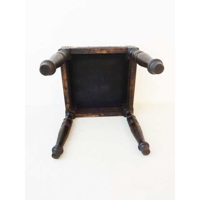 Antique Tribal Qashqa'i Fragment Stool For Sale - Image 9 of 9