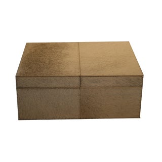 Contemporary Grey Cowhide Box For Sale