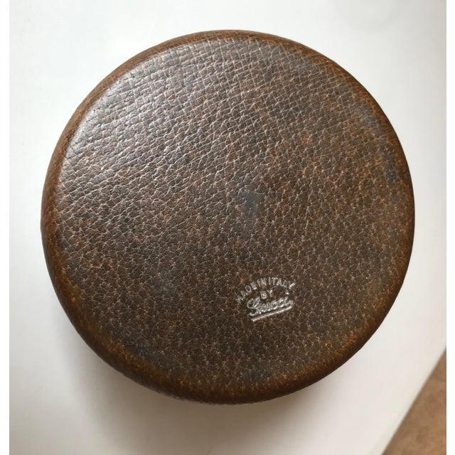 1980s Vintage Gucci Spherical Leather Lighter For Sale In Los Angeles - Image 6 of 8