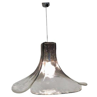 Tulip Hanging Lamp Ls185 by Carlo Nason for Mazzega, 1960s For Sale