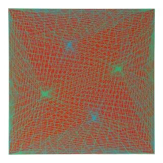 "1960s Roy Ahlgren, ""Constelllation"", Op Art Screenprint For Sale"