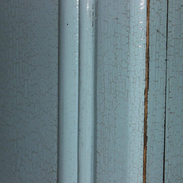 Asian Modern Baby Blue Lacquer Sideboard For Sale - Image 4 of 7