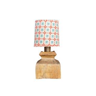 19th Century Teak Pedestal Lamp For Sale