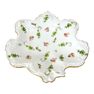 Antique Royal Crown Derby Porcelain 'Rose Bud' Country Cottage Catchall or Dish #6540 For Sale