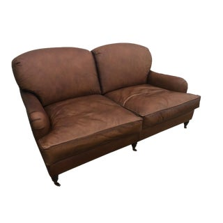 Traditional Leather Sofa For Sale