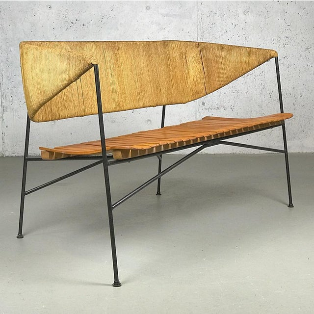 Modernist Settee by Arthur Umanoff for Shaver Howard & Raymor Loveseat Bench Sofa Couch For Sale - Image 13 of 13