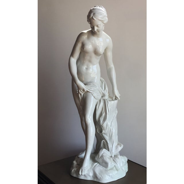 19th C. Falconet Porcelain 'Bather' Sculpture - Image 7 of 10