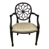 Image of Vintage Mid Century Hekman Furniture Spider Back Arm Chair For Sale