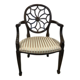 Vintage Mid Century Hekman Furniture Spider Back Arm Chair For Sale