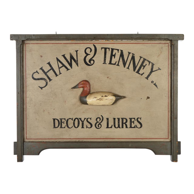 Decoys and Lures Trade Sign For Sale