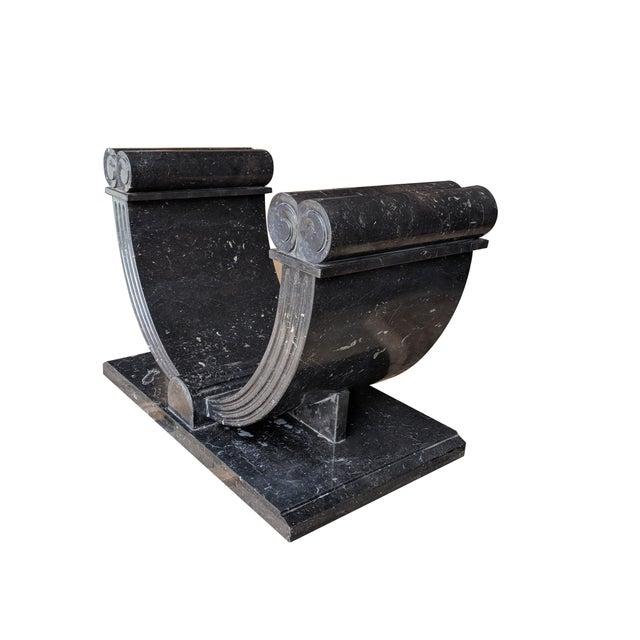 20th Century Art Deco Granite Console Table For Sale - Image 4 of 11