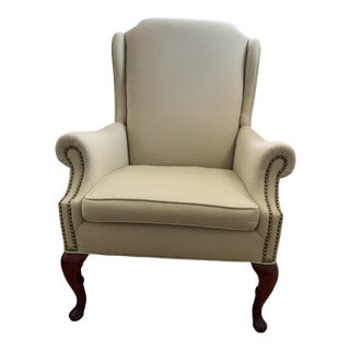Traditional Style Wingback Chair For Sale