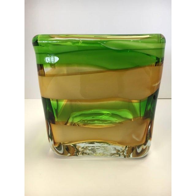 Green Waterford Evolution Vase Dish Bowl Vessel For Sale - Image 8 of 8
