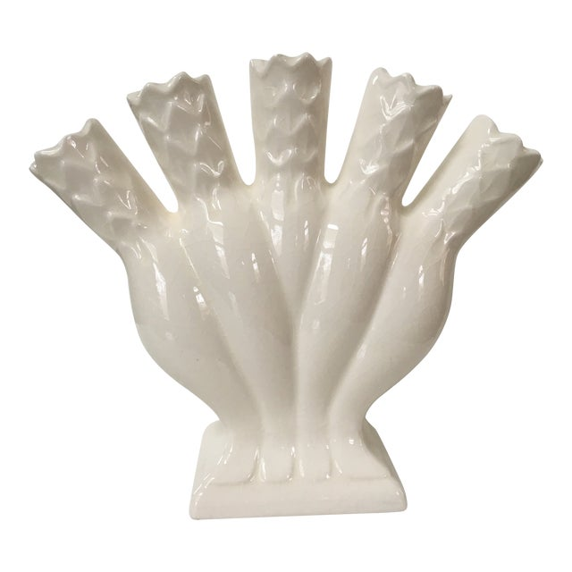 Image of Vintage Mid-Century Five Finger Fan Vase
