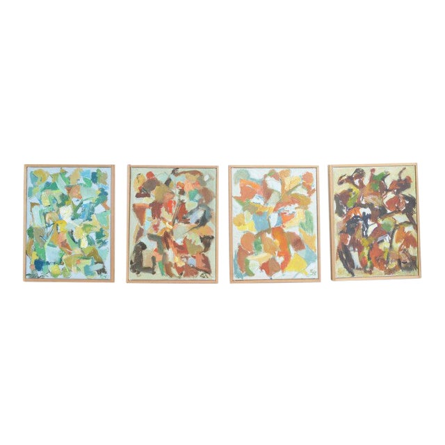 Four Compositions - Paintings by Eva Beyer For Sale