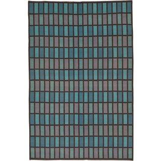 20th Century Swedish Flat Weave Rug- 6′6″ × 9′7″ For Sale