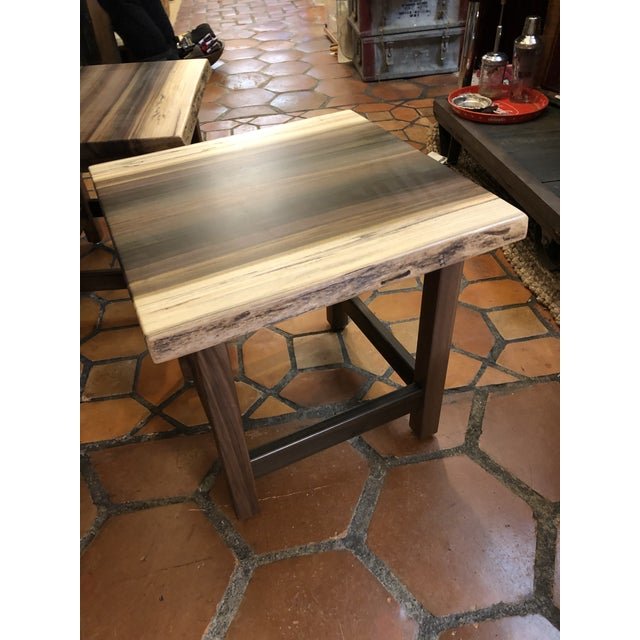 Artisan Made Amish Custom Poplar End Tables -A Pair For Sale - Image 10 of 11