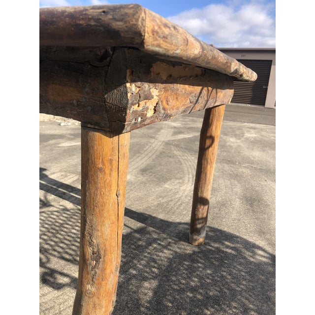 Rustic Adirondack Work or Side Table For Sale - Image 11 of 13