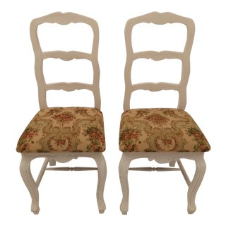 French Ladder Back Country Chairs - A Pair