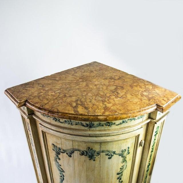 19th Century Antique Italian Corner Cupboard For Sale - Image 5 of 7