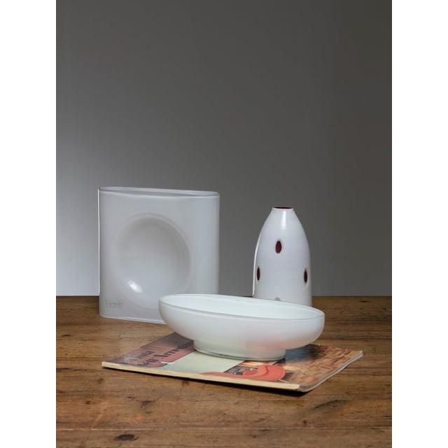 AVMazzega Set of Three Murano Glass Vases For Sale - Image 4 of 5