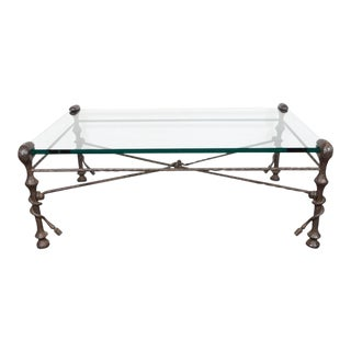 Mid-Century Modern Sculptural Bronze Table in the Manner of Giacometti