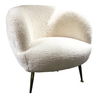 Modern Scandinavian Authentic Shearling Chair For Sale