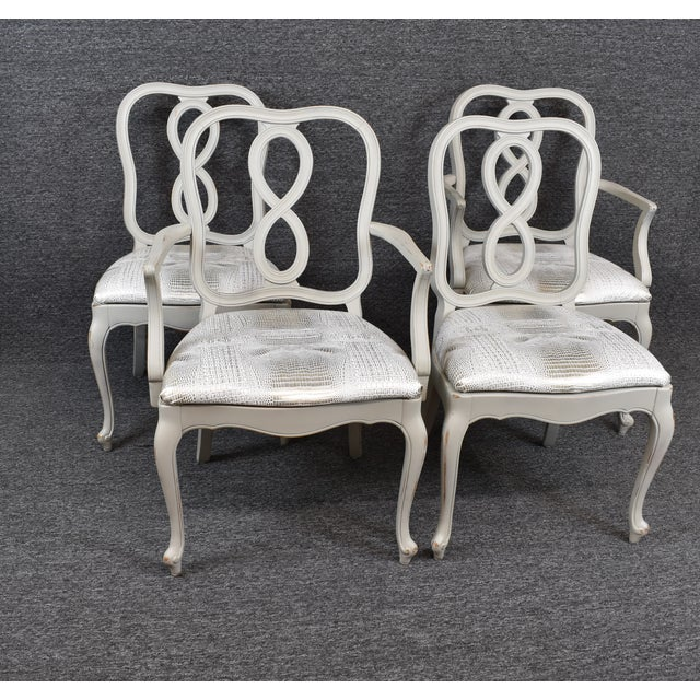 French Country Louis XV Style Dining Chairs- Set of 4 For Sale - Image 13 of 13