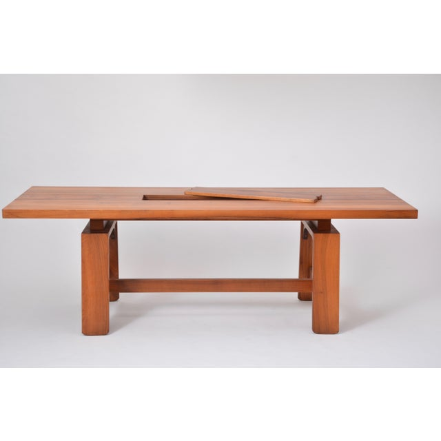 Large Dining Table in Walnut Veneer by Silvio Coppola, Bernini, Italy, 1964 For Sale - Image 11 of 12