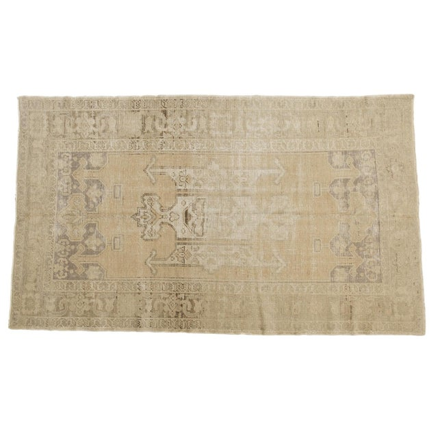 "Vintage Distressed Oushak Carpet - 5'6"" X 9'1"" For Sale - Image 13 of 13"