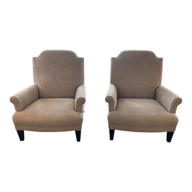 Holly Hunt Gray Chairs - A Pair For Sale