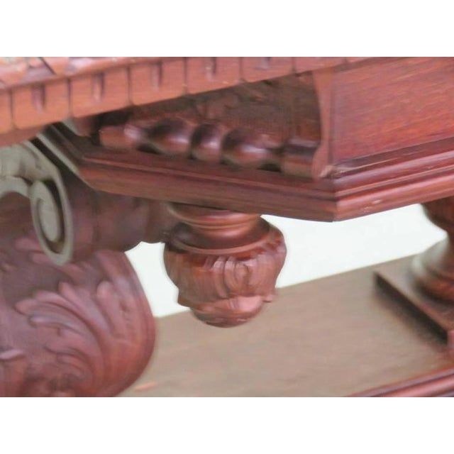 Wood 19th Century Carved Walnut Dining Table For Sale - Image 7 of 10