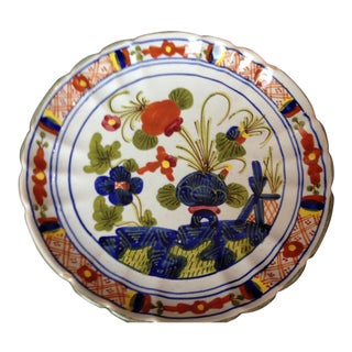 "Italian ""Blue Carnation"" Faience Plate For Sale"